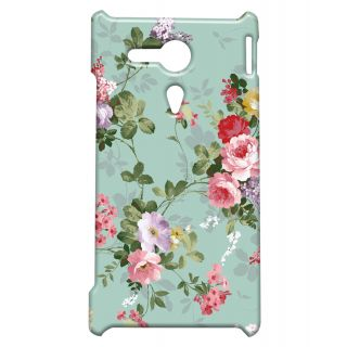 Pickpattern Back Cover For Sony Xperia SP PAINTEDBLUESP