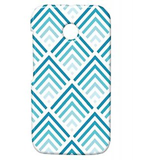 Pickpattern Back Cover For Motorola Moto E/Moto E Dual Sim BLUEHILLSME