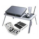 HQ Portable Laptop Stand E Table With 2 USB Fans
