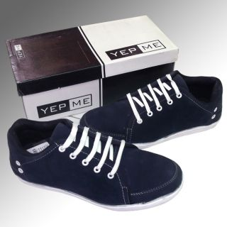YepMe Brand Men's Casual Lace-up Shoes Dark Blue