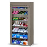 7 Layer Shoe Rack With Dust And Water Resistant Cover