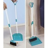 Dustpan And Broom Set With Long Handle
