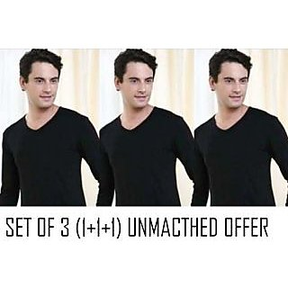 hot thermal wear (pack of 3) full sleeves (v neck)