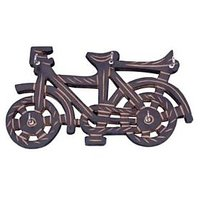 Khan Handicrafts Wooden Key Holder In Cycle Shape With Handicraft Design