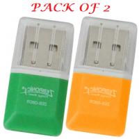 Combo Pack of-2-U-Bon Micro-SD Single Card Reader- MultiColor