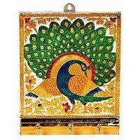 Satya Traditinal Meenakari Work Adorable At Work 3 Key Stand In White Metal