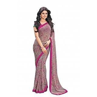 Bhavi Printed Semi Chiffon Sari (BHVP12418)
