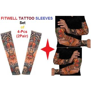 Fitwell Branded Sun Protected Tattoo Sleeves- Pack of 4pcs-2(pair)