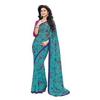 Bhavi Printed Semi Chiffon Sari (BHVP12421)