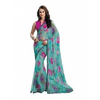 Bhavi Printed Semi Chiffon Sari (BHVP12425)