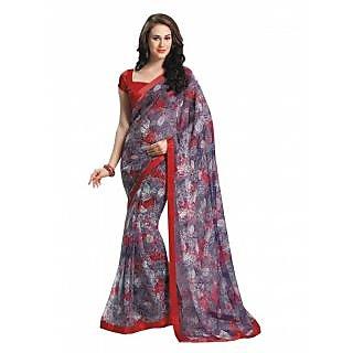 Bhavi Printed Semi Chiffon Sari (BHVP12430)