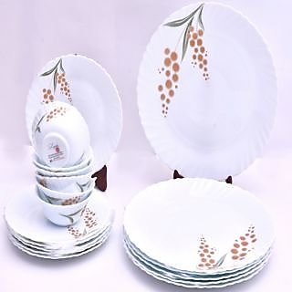 Larah 18 Pcs Dinner Set Fluted Merigold
