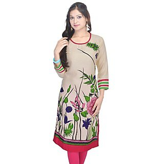 Shop Rajasthan Multicolor Floral Cotton Stitched Kurti