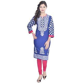 Shop Rajasthan Purple Plain Cotton Stitched Kurti