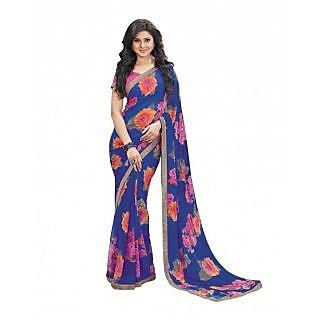 Bhavi Printed Semi Chiffon Sari (BHVP12433)