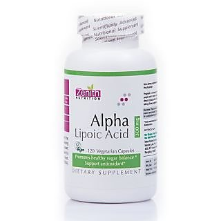 Zenith Nutrition Alpha Lipoic Acid 300Mg - 120 Capsules