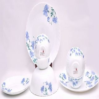 Larah 7 Pcs Dinner Set Fluted Acis