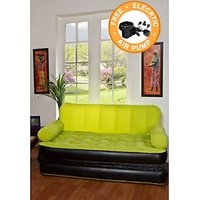 MNC Globle  Velvet Air Sofa Cum Bed (Assorted Colors) With Free Bed Sheet