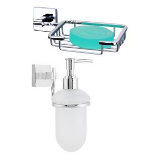 Topaz Soap Dish + Soap Dispenser-(Pure Brass)