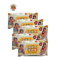 Mee Mee Baby Wet Wipes with Lemon Fragrance - 30 pcs - (Pack of 5)