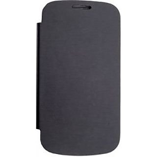 Micromax Canvas Fun A76  Flip Cover Black available at ShopClues for Rs.199