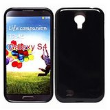 KolorFish iSimple - Silicon Back Case Cover for Galaxy Galaxy S4 i9500 (ISIMBS4BL) - BLACK