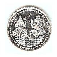 10 GMS SILVER COIN OF LAKSHMI GANESH..