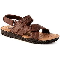 Valentino Men COMFORT51BROWN Leather Casual Sandal