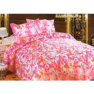 Valtellina Polycotton Floral  Double BedSheet with 2 Pillow Cover (KRL-12)