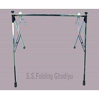 Indian Folding Stainless Steel Baby Swing / Ghodiyu / Palna with Hammock