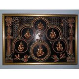 Wall Hanging Of Ganesha With Musical Instruments