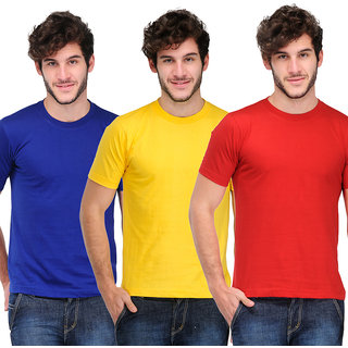 TSX Mens Multicolor Round Neck Tshirt (Pack of 3)