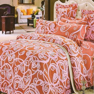 Valtellina Ikat Cotton King Bedsheet With 2 pillow cover (VT-16)