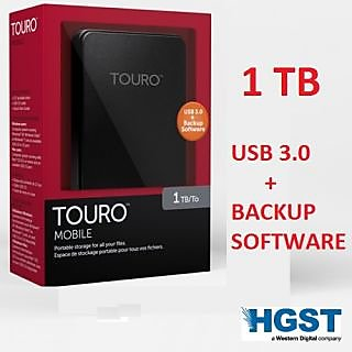 1TB External Hard Disk Portable HGST(a WD Comapny) WITH BACKUP SOFTWARE
