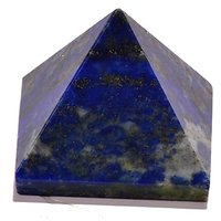 Lapis Lazuli Pyramid Set Of Three Each 25-30 MM
