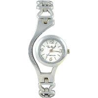 The Pari Round Dial Silver Metal Strap Women Watch
