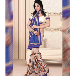Multi Color Jacquard + Georgette Saree