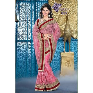 Womens Georgette Embroidered Saree available at ShopClues for Rs.4900