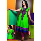 Elegance Parrot Green Coloured Kurti / Kurta