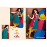 Georgette Three colour layered kurti/Kurta