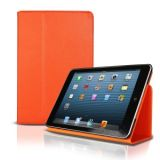 IPad Mini High Quality Pu Leather Stand Smart Cover ORANGE Soft Touching Case