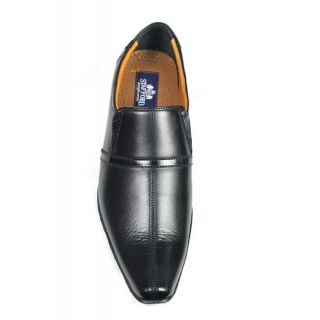 JerryMouse.in Mens Black Leather Shoes - MFOR0005