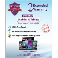 Infyshield Extended Warranty For 2 Years On Mobile  Tablets Priced Upto Rs. 5,000