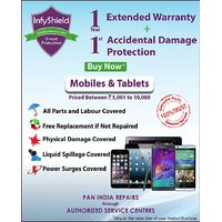 Infyshield 1 Year Extended Warranty With 1St Year Accidental Physical  Liquid Damage For Mobile  Tablets Priced Between Rs. 5K- To Rs. 10K