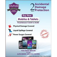 Infyshield Accidental Physical  Liquid Damage For 2 Years On Mobile  Tablets Priced Between Rs. 20,001- To Rs. 30,000