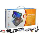 "7.8"" LCD DVD PLAYER PORTABLE USB/TV/GAMES SONGS MOVIES"