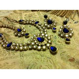 Kanchana Royal Blue Stone Necklace Set