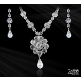 Real Austrian Diamond Studded Necklace Set By 24Karats