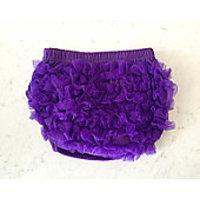 Bloomers - Chiffon Ruffled Baby Cotton Bloomers Purple 1-2 Y