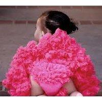 Bloomers - Chiffon Ruffled Baby Cotton Bloomers Raspberry 1-2 Y